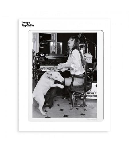 40x50 cm La Galerie Jane Birkin Dog - Affiche Image Republic