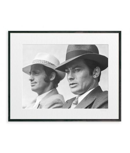 40x50 cm La Galerie Borsalino Delon Belmondo - Affiche Image Republic