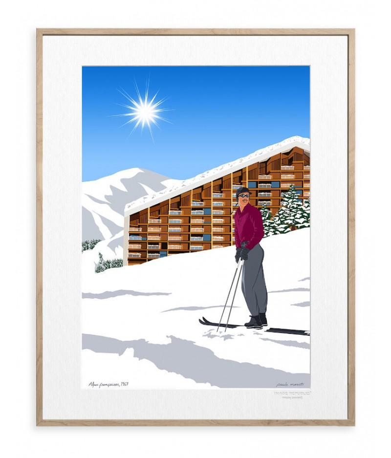 30x40 cm Paulo Mariotti Alpes françaises - Affiche Image Republic
