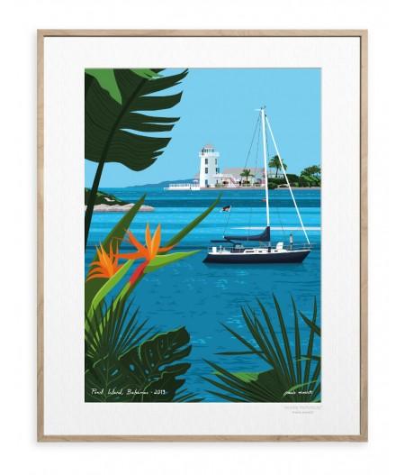 30x40 cm Paulo Mariotti Bahamas - Affiche Image Republic