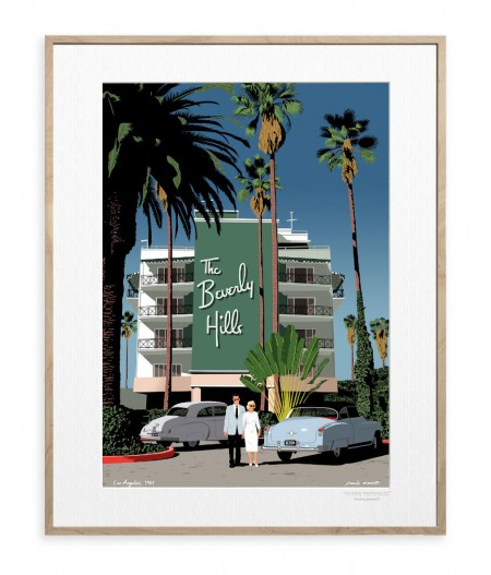 30x40 cm Paulo Mariotti Beverly Hills- Affiche Image Republic