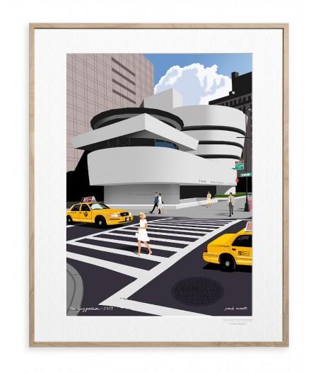 30x40 cm Paulo Mariotti Guggenheim - Affiche Image Republic