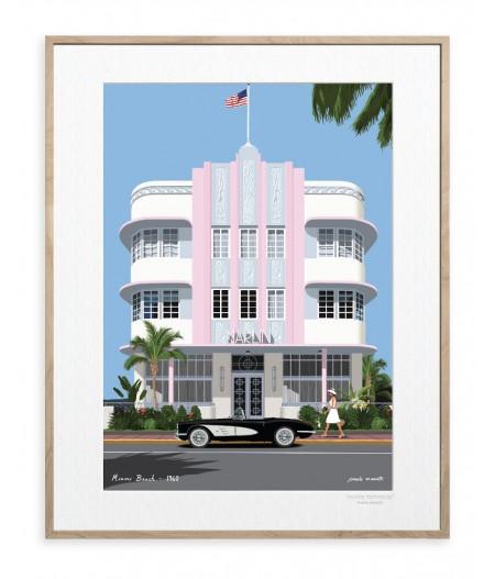 30x40 cm Paulo Mariotti Miami - Affiche Image Republic
