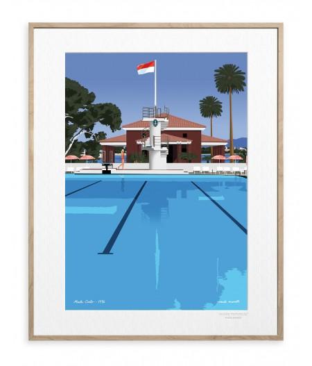 30x40 cm Paulo Mariotti Monte-Carlo - Affiche Image Republic