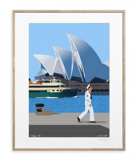 30x40 cm Paulo Mariotti Sydney - Affiche Image Republic