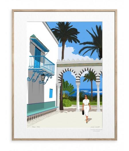 30x40 cm Paulo Mariotti Tunis - Affiche Image Republic