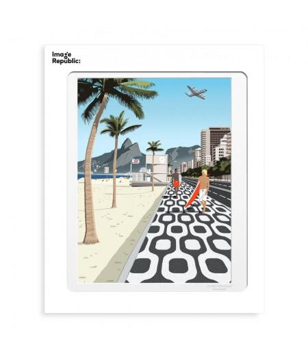 30x40 cm Paulo Mariotti Ipanema - Affiche Image Republic