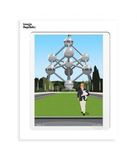 30x40 cm Paulo Mariotti Atomium - Affiche Image Republic