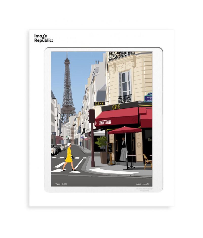 30x40 cm Paulo Mariotti Paris Saint Dominique - Affiche Image Republic