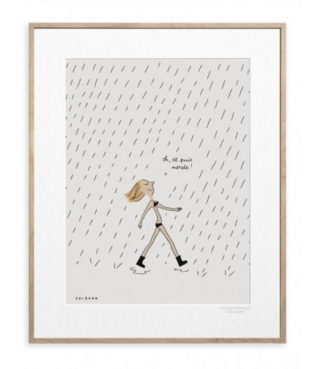 30x40 cm Soledad Pluie - Affiche Image Republic