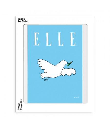 30x40 cm Soledad Elle Colombe - Affiche Image Republic