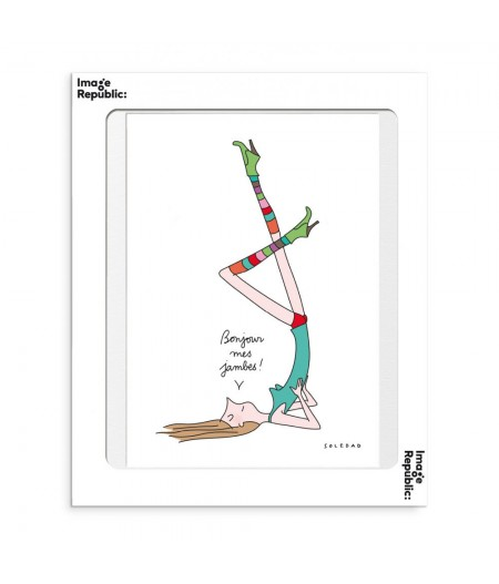 30x40 cm Soledad Jambes - Affiche Image Republic