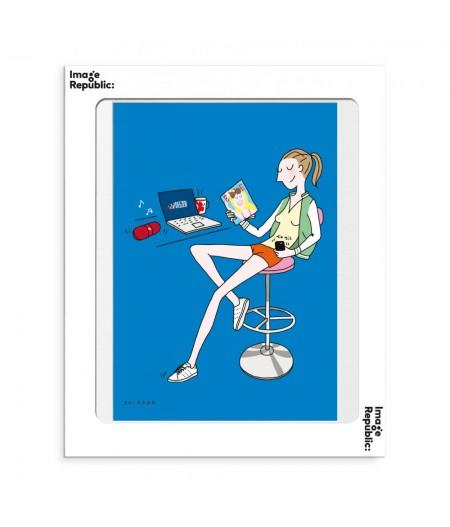 30x40 cm Soledad Jeune - Affiche Image Republic