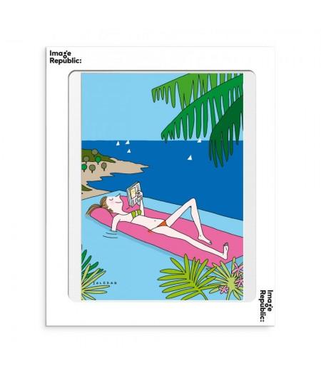 30x40 cm Soledad Piscine - Affiche Image Republic