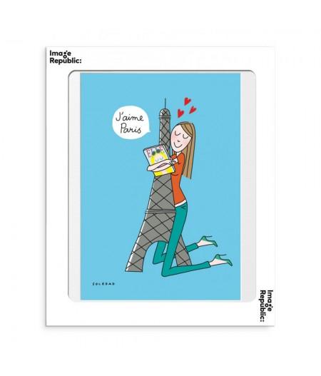 30x40 cm Soledad Tour Eiffel - Affiche Image Republic