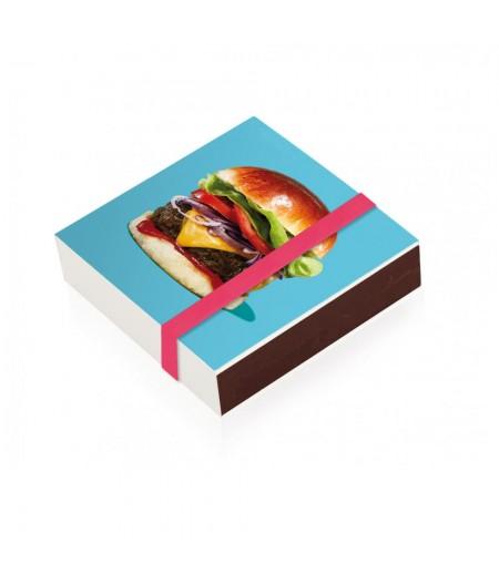 10x10 Cm Aluico006 - Boite d'allumettes Burger L'Iconolatre - Image Republic