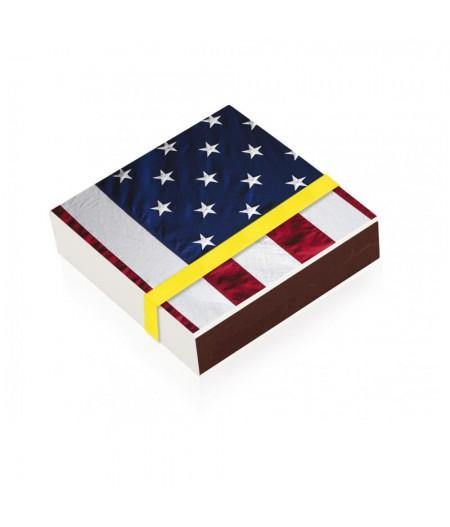 10x10 Cm Aluico008 - Boite d'allumettes American Flag L'Iconolatre - Image Republic