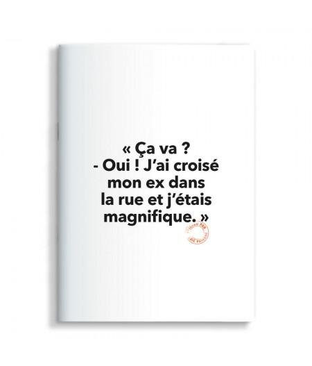 15x21 Cm Note Book Loic Prigent 63 Ca Va ? Oui ! j'ai croisé mon ex dans la rue et j'étais magnifique - Image Republic