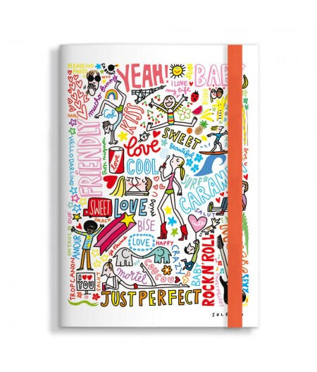 Carnet 15x21 Cm Note Book Soledad Graffitis - Image Republic