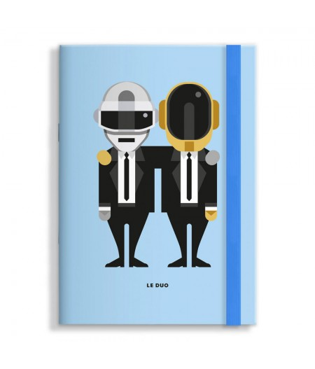 15x21 Cm Note Book Le Duo Solo 10 Daft Punk - Image Republic