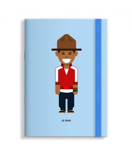 15x21 Cm Note Book Le Duo Solo 22 Pharell Williams - Image Republic