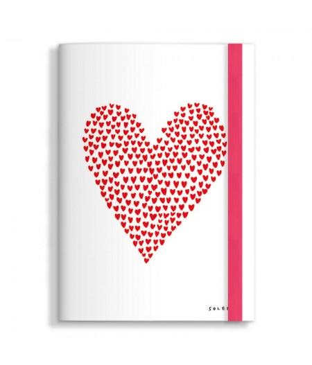 15x21 cm Note Book Soledad Coeur en coeur- Image Republic