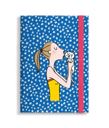 15x21 cm Note Book Soledad Kiss Cat - Image Republic