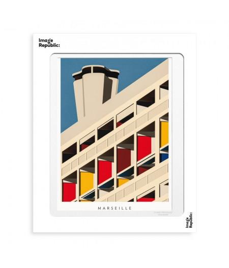 30x40 cm Thomas Cantoni Marseille Le Corbusier - Image Republic