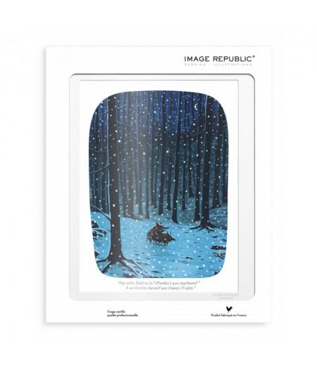 30x40 cm Voutch Sanglier - Affiche Image Republic