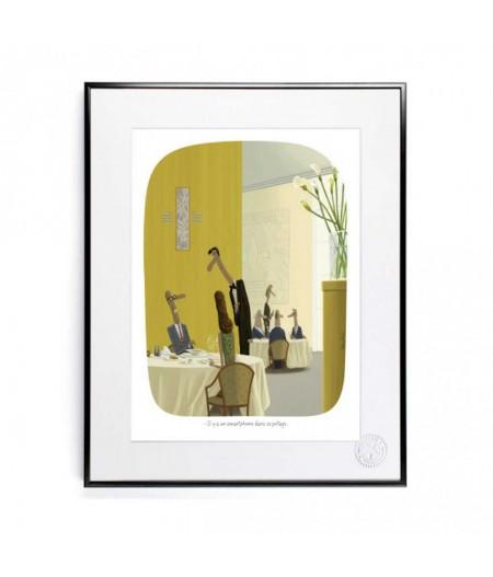 30x40 cm Voutch Smartphone - Affiche Image Republic