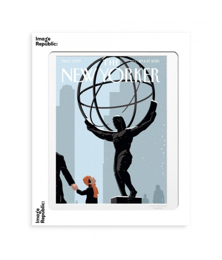 40x50 cm The New Yorker 100 Niemann One Small Step 134022  - Affiche Image Republic