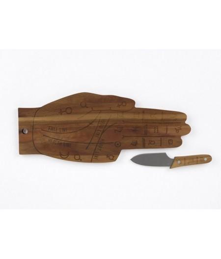 Planche de service avec couteau Tarot - DOIY