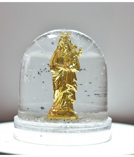 Boule à neige Bonne Mère - Or - Neige Noir - J'ai Vu la Vierge