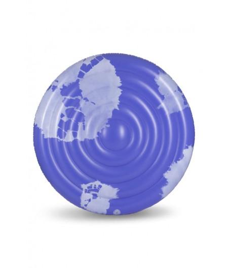 Matelas rond Goa Bleu | The Nice Fleet : Grand matelas rond gonflable en PVC de 1,50 m de diamètre