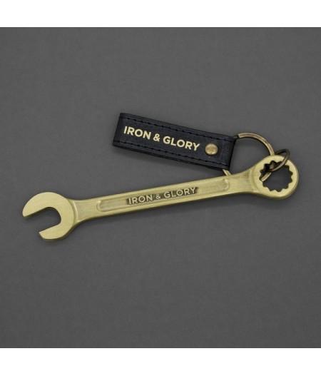 Porte-Clés Décapsuleur Clé Anglaise Dorée - Its A Wrench - Iron & Glory
