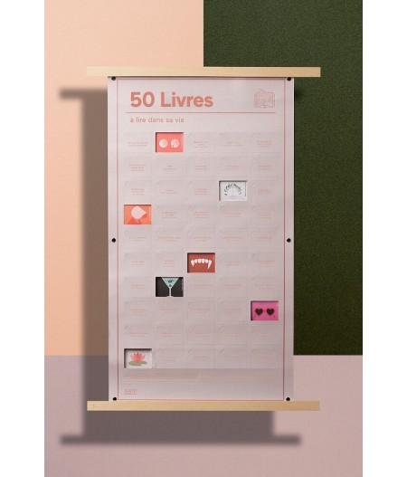 Poster 50 Livres à lire dans sa vie - DOIY