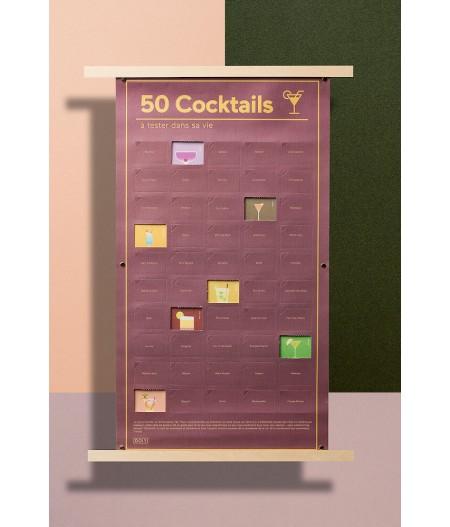 Poster 50 Cocktails à goûter dans sa vie - DOIY