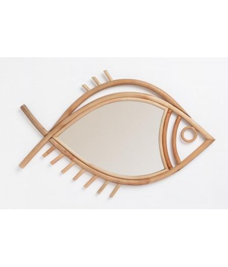 Tan-Tan DOIY Miroir poisson rotin taille XL