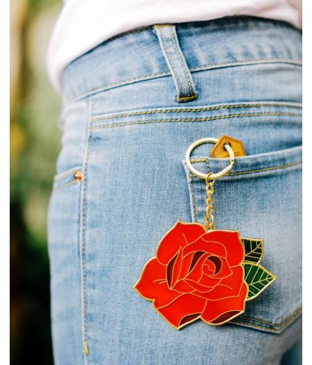 Porte-clés géant Rose - DOIY Oversized Rose