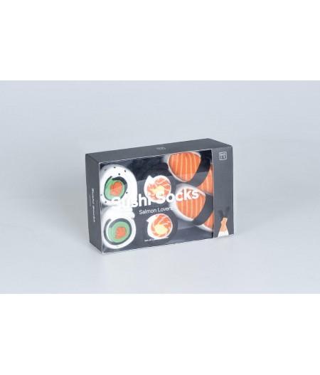 Sushi Socks Salmon Lovers DOIY - Chaussettes Sushi Amateur de Saumon, set de 3