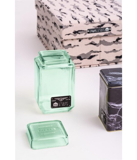 Vase en verre avec couvercle GM - Collection Surplus Storage System by Diesel Living x Seletti