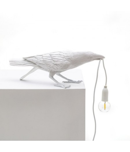 Bird Lamp 2 Playing - Seletti - White Resin Lamp