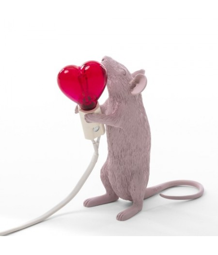 Lampe Souris Debout Coeur Saint-Valentin Seletti - Mouse Lampe 1 Step Standing Valentine's Day