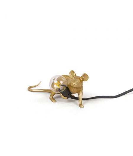 Lampe Souris LOP Gold Seletti - Fil noir