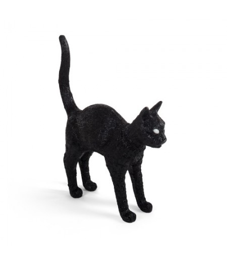 Jobby the Cat Seletti Black- Lampe Chat noir en résine