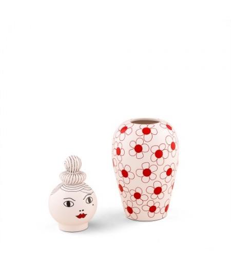 Le Canopie-Pepa Dolomite Vase with Cover Seletti - Vase Dolomite Canopie PEPA