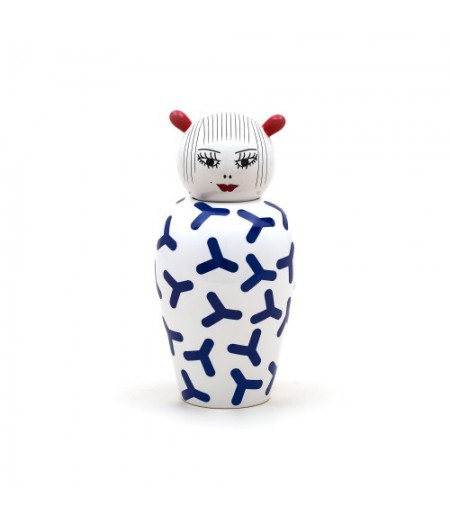 Le Canopie-Zoé Dolomite Vase with Cover Seletti - Vase Dolomite Canopie Zoé