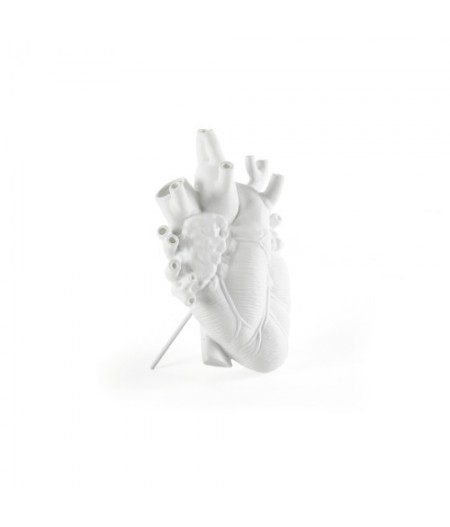 Love In Bloom Seletti Vase en porcelaine - Porcelain Heart Vase