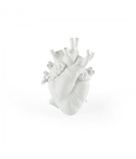 Love In Bloom Seletti Vase en porcelaine - Porcelain Heart Vase