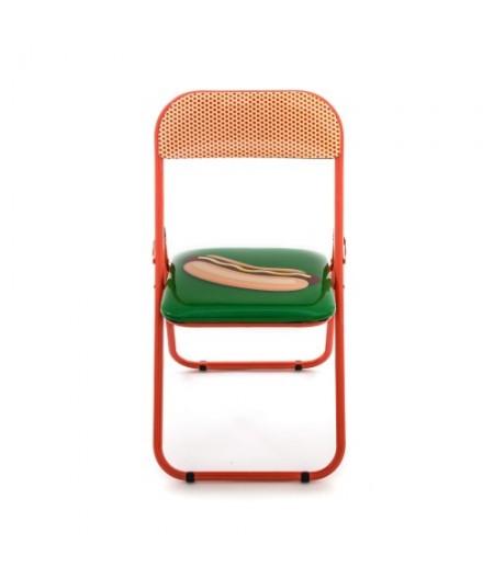 Studio Job - Blow Metal Folding chair Hotdog - Seletti Chaise pliable Hotdog